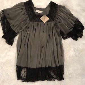 NWT Badgley Mischka blouse SZ M